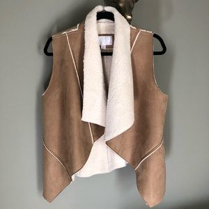 Fall Suede and Faux Fur Vest
